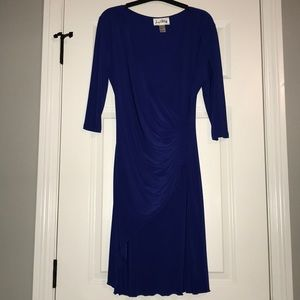 Royal blue Joseph Ridkoff cocktail dress
